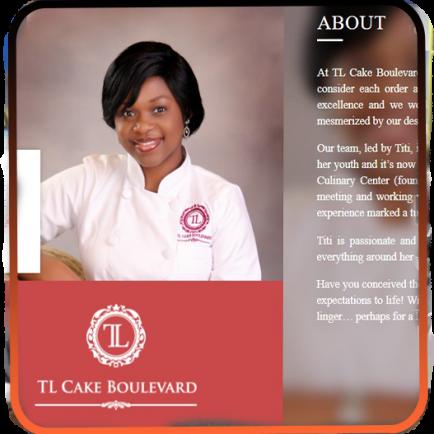 TL Cake Boulevard- web design and development
